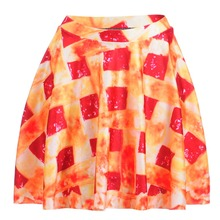 Skirts High Quality Sexy New Women's Tomato Sauce Pizza Skirts Digital Printing Skirts Vestido Plus size Free shopping(China)