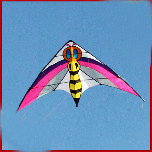 free shipping high quality 2.4m bee dual line stunt kite outdoor flying toy nylon ripstops large kite surf octopus kite wheel <br><br>Aliexpress