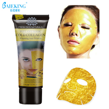 Gold Collagen Facial Mask Crystal Gold Powder Collagen Facial Mask Moisturizing Anti-aging Wrinkle Lifting Smooth Tear Off Masks(China)