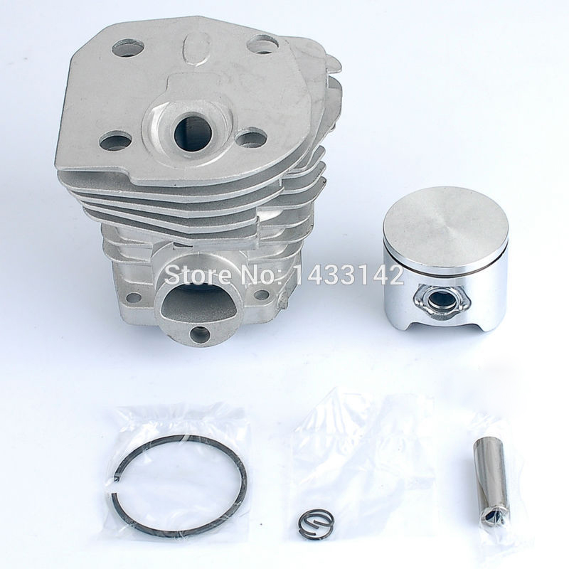 44mm Cylinder Piston Ring Assembly Kit for HUSQVARNA 346 350 351 353 Motosierra Chainsaw CH-HU-350L<br>