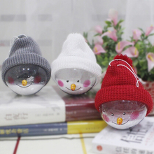 New Lovely Christmas Decorations Creative Christmas Snowman Children Toys Plastic Christmas Balls XMAS Pendants Gifts EJ993305(China)