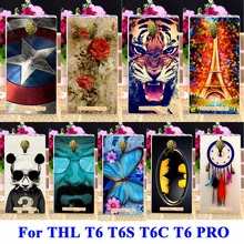 DIY Flexible Soft TPU Silicon Cell Phone Cases For THL T6 Covers T6S T6C T6 PRO Housing Bags Skin Shell Protector Shield Cases