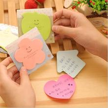 4 pcs/lot Cute Korean Kawaii Star Apple Post It Planner Stickers Memo Pad Sticky Notes Pads Stationery School Supplies(China)
