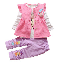Buy BibiCola Baby Girl Clothing Sets Kids 3PCS Coat+T-shirt+Pants Children Clothes Spring Autumn Bebe Girl Outfits Bib Tracksuit for $13.90 in AliExpress store