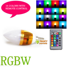 Led lamp e14 90-260V Lightbulb with motion sensor led candle bulb 16 colors rgb remote control for home decor lampade ampoule