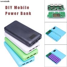 vovotrade 5V 2.1A 3 USB 7X 18650 DIY Mobile Power Bank Case Kit Battery Charger Box Case Free Soldering Design Drop Shipping(China)