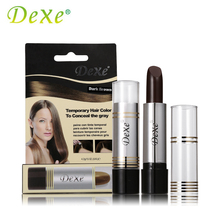 DEXE Temporary Hair Dye Hair Color Stick Hair Coloring Cream Products To Conceal The Gray Root Cover Up Black Dark/Medium Brown(China)