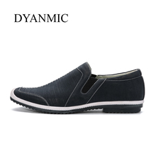 Hot ! Men Casual Shoes DYANMIC 2017 Latest Designer Vintage Men's Slip-on Flat Shoes Male Moccasins Free Shipping Eur Size 40-45