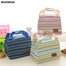 2017 New Fashion Portable Insulated canvas lunch Bag Thermal Food Picnic Bag for Women kids Men Cooler bag Lunch Box Tote