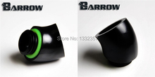 "Barrow Black G1 / 4 ""45 degree adapter seat computer fitting for water cooling(China)"
