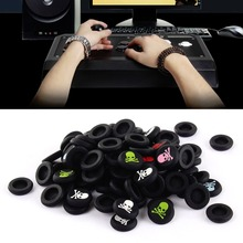 New 100 x Silicone skull head Analog Controller Thumb Stick Grips Cap Cover For Play Station 3 for PS4 for Xbox 360 for Xbox