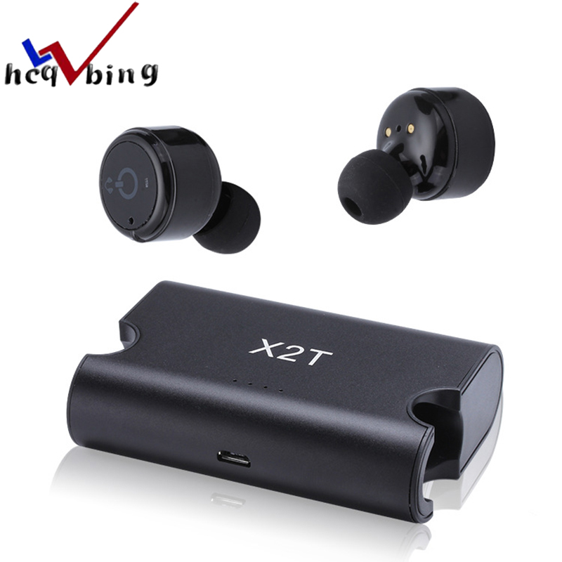 HCQWBING I7 Double Ear TWS Bluetooth Earphone Wireless Earbuds In-Ear Headset Mini Headphone With Mic for iphone 7 Android