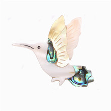 5 pcs 2017 Most fashion shell Pins Original handmade natural elephant bird cat fish brooches for man and women gift brooch ZX44