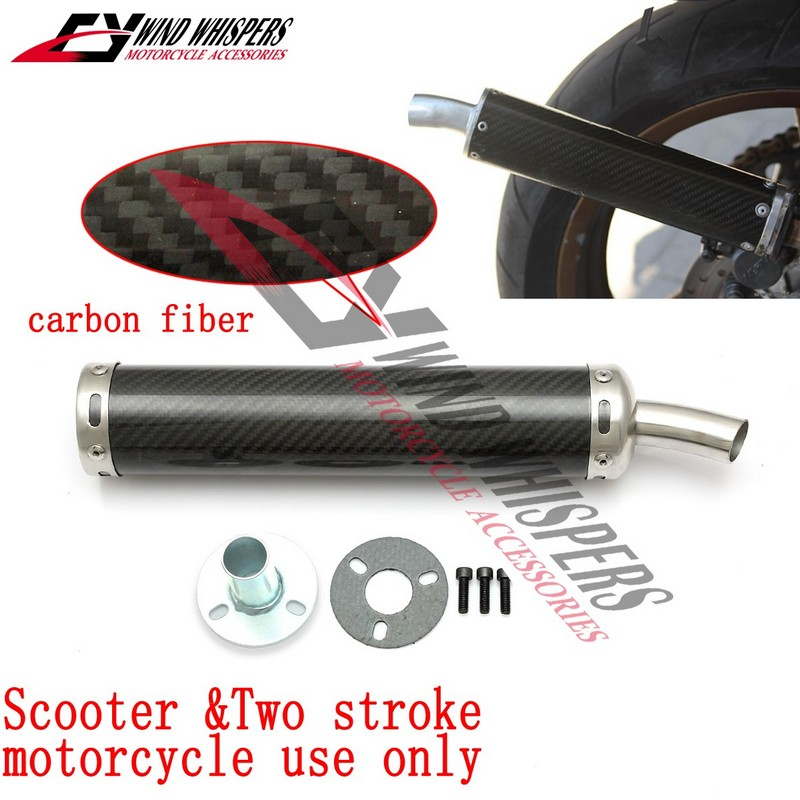 Cc Two Stroke Motorcycle Universal Modified Carbon Fiber Exhaust Pipe For Nsr Tzr