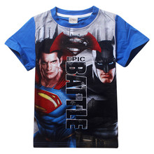 5-9T Kids Batman v Superman T Shirt Tops Brand Children Clothing Short Sleeve Cotton Boys T-Shirts Summer