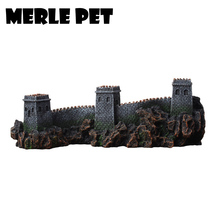 MERLE PET Chinese Architecture Landscape Rockery Ornaments Aquarium Decoration Fish Tank Cave Accessories Free Shipping G07075(China)