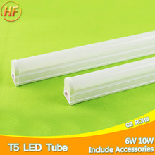 Aluminum Integrated 10W 6W LED Tube T5 Light 220V 60cm 30cm T5 Tube Lamp Warm Cold White LED Fluorescent light T5 1Ft 2Ft