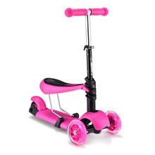 3 in 1 child scooter toy tricycle scooter with adjust handle bar PU light up wheel 3 colors available trottinette enfant