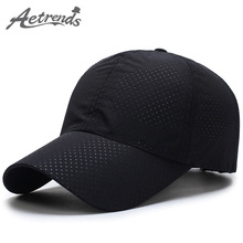 [AETRENDS] Men Women 2017 Summer Snapback Quick Dry Mesh Baseball Cap Sun Hat Bone Breathable Hats Z-5109