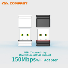 Comfast Mini 150Mbps USB WiFi Adapter 802.11 b/g/n Wi-Fi Dongle Wireless Network LAN Card for PC Desktop Receiver with CD driver(China)
