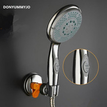 Water Saving Shower Head ABS Plastic Hand Hold With Switch Rain Spray Bath Shower Waterfall Showerhead Bathroom Accessories(China)