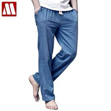 2017 Summer new mens Leisure linen pants men's cotton breathable fresh loose linen trousers linen trousers paragraph D160