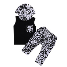 Newborn Baby Girls Clothes Set 2017 Winter Baby Boys Clothes Velvet Hoodie+Leopard Pant 2pcs Kids Outfit Suit Infant Clothing