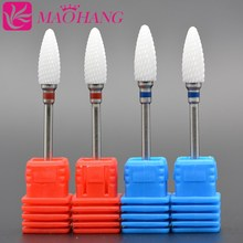 MAOHANG 4pcs/lot nail electric drill manicure machine cutter device Ceramic bullet nail drill Bit cutter nail art salon tools(China)
