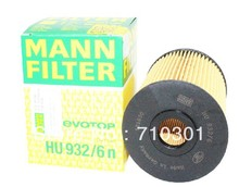 Hot sales, free shipping fee MANN oil filter HU932/6N for A8 4.2L 3.2L Q7 3.6L Cayenne