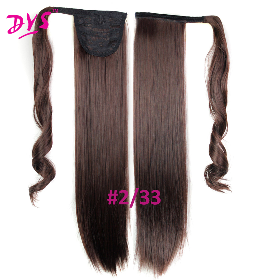 Deyngs 60cm Long Straight Clip In Hair Tail False Hair Ponytail Hairpiece With Hairpins Synthetic Hair Pony Tail Hair Extensions (17)