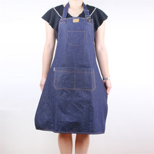 New Denim Apron Cotton Cooking baking funny sexy Apron With Pockets Strap For Men Women Barista Barber Baker in Restaurant cafe