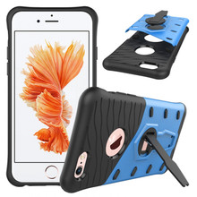 For iPhone 6 6S Phone Case Shockproof 360 rotating swivel bracket Phone shell Netted heat dissipation Armor Phone Case Cover