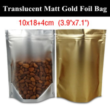 "100pcs 10x18+4cm (3.9""x7.1"") Stand up Translucent Gold Foil Fishing Packaging Bag Product Display Bag Fishhooks/Fish Lines Bag(China)"
