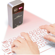 Hongsund Bluetooth Laser Projection Keyboard Virtual Keyboard for Smartphone PC Tablet Laptop Computer English QWERTY keyboard