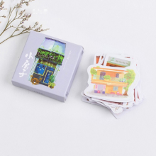 1Pack Beautiful Little House Houselet Stickers Adhesive Stickers DIY Decoration Stickers(China)
