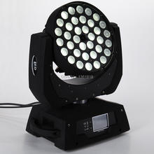 (1pieces/lot) led wash RGBWA led zoom beam moving head stage light Dynamic Circle Section control dmx 36x12w led zoom wash light