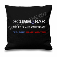 "Novelty Monkey Island Throw Pillows Cases Cushion Covers Black The Secret of Monkey Adventure Game Island Custom Decor Gift 18""(China)"