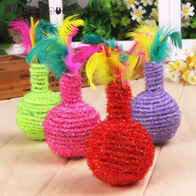 Feather Ball  Pet Cat Toys Cheap Mini Funny Playing Toys For Cats Kitten
