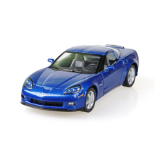 Corvette Z06 Sports Car Blue 1/36 alloy model car Diecast Metal Pull Back Car Toy For Gift Collection