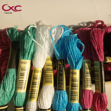 CXC(CXC) embroidery thread, cross stitch thread, 8yd, high color fastness ,Specify five color,50&25pieces,floss,six strands