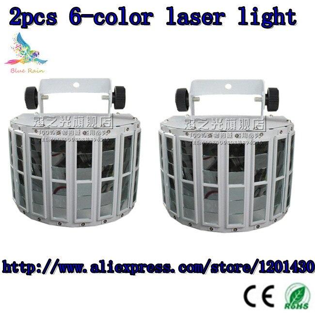 2pcs / 6-color laser light stage lighting, beam lights of professional DJ equipment DMX512 controller 100% new<br><br>Aliexpress