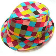 2017 Plaid Fedoras baby cap Boys fedora hats for kids 1 piece(China)