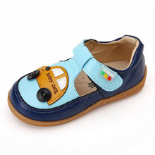 Kids Beach Sandals 2017 New Summer Cars Cartoon Children Sandals for PU Leather Kids Shoe for Boys Shoes size 26~30