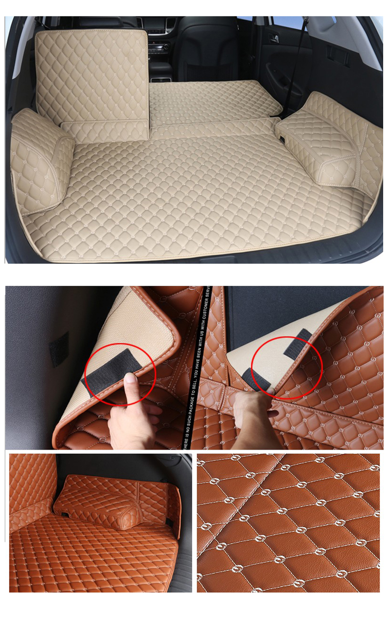 6 Cargo Liner For Hyundai Tucson 2018 2017 2016 TL 3 Car Floor Trunk Carpet Rugs Mats Automobile Accessories Car-styling Mat Rug