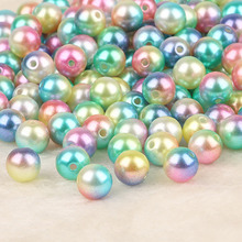 Dia 4/6/8/10mm 50-500pcs ABS Imitation Pearl beads Round Plastic ABS Loose Pearl Beads for Necklace Bracelet DIY Jewelry Making(China)