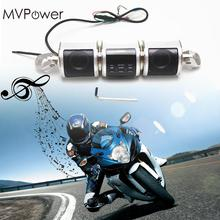 MVPower Motorcycle Bluetooth Audio Sound System MP3 Player FM/AM Radio Stereo Speakers Waterproof Motorbike Speaker Silver MT487(China)
