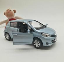 High simulation Toyota Yaris,1: 36 alloy pull back to the car model, metal castings,2 open the door toy vehicle, free shipping(China)