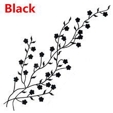1 pc Beautiful Embroidered Plum Blossom Flower Patch Sew/Iron on Applique Motif Craft 47*12.5 cm