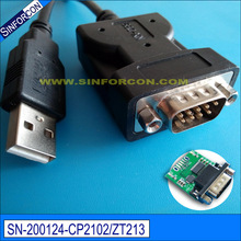 hot selling cp2102 usb serial rs232 db9 adapter ftdi ft232r usb rs232 serial cable(China)