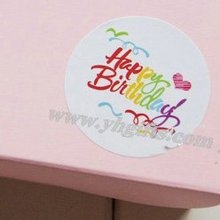 750PCS/LOT.Happy birthday adhesive stickers,Handmade favor label.Packing stickers,Birthday decoration,4.5cm.Freeshipping